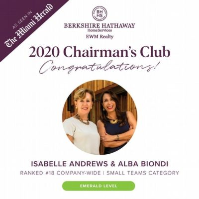 2020 Chairman's Club Awards
